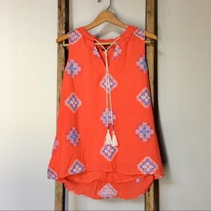 EUC Miss Me Boho-Chic Flowy Embroidered Ethnic Top